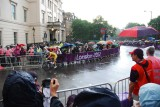 Tail end of the ladies 50 km cycle race
