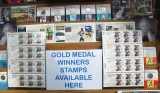 Olympic uk winners stamps