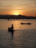 SUNSET OVER TOLNLE SAP LAKE