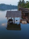 BOAT HOUSE ON ANGKOR WAT LAKE
