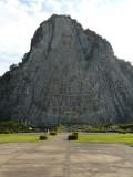 Buddah on mountain