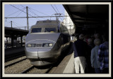 Our train to Lausanne
