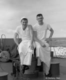 Two Mess Cooks, USS Hugh Purvis,   DD 709