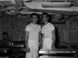Mess cooks, USS Hugh Purvis, March 1962