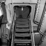 Ladder in  forward sleeping quarters,   DD 709
