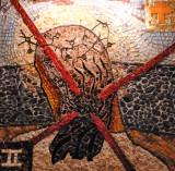 Jesus accepts His cross