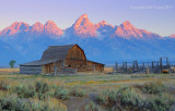 Tetons over the old barn