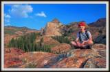 Zach on the Sundial Rock