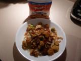 Garnish fried okra