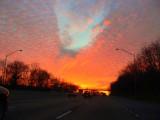Sunset on I-40 W Bellevue