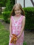 Kayla in easter dress