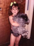 Katie and her angora rabbit