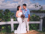 Katie gets married in Maui