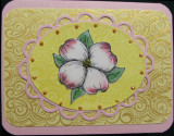 Card made with Heat embossed Background Stamps
