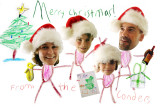 Renda's son and his family say Merry Christmas