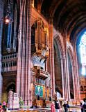 Organ and organ loft above the choir stalls