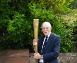 Me holding the Olympic torch