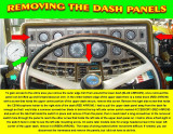 REMOVING UPPER AND LOWER DASH PANELS