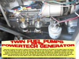 TWIN FUEL PUMPS FOR THE POWERTECH GENERATOR