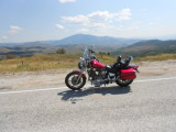 SEPTEMBER 2011 RIDING UP INTO THE WASATCH MOUNTAINS IN UTAH WITH THIS VIEW OVER INTO WYOMING