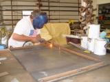 RANDY DUPREE STARTING TO BUILD THE FRAME WORK FOR THE NEW SWING OPEN DOOR
