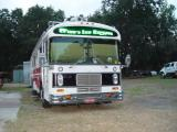 THE HEADLIGHT DOORS WERE PAINTED BLACK TO MATCH THE TOP SIGN, CLEAR LED TURN SIGNALS THAT FLASH AMBER WERE ALSO ADDED