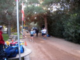 on the course the first day. 72-hour runners Juli Aistars and John Geesler in front.
