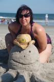 Lucie a la plage
