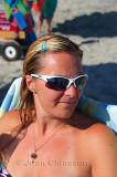 Stéphanie a la plage
