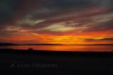 Fleuve St-Laurent et levé de soleil  ( Sunrise )