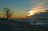 Fleuve St-Laurent et levé de soleil / - 18 ( Sunrise )