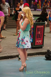 Times Square  Girl