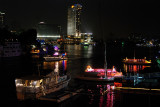 Nile Cairo night scene