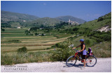 Cycling through villages and hills