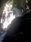 Miguel y Javi en la cascada