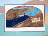 Parker Dam creates Lake Havasu - 1938 (mural)