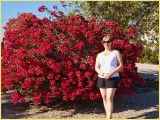 Martina and bougainvillea