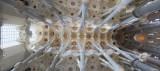 Panorámica de la bóveda de la Basílica de la Sagrada Familia