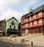 Here we are in the main square of Josselin....