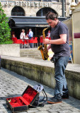 The saxophonist of Quimper