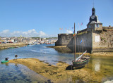 When we arrived to Concarneau it was ebb tide....