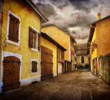 The street of yellow houses...