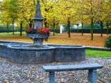 A cold autumn bench...