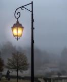 Morning is darker when it's foggy....