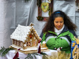 The shy  lady who sold gingerbread houses...