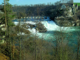 The largest waterfall in Europe from the train window.