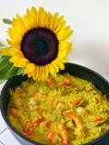 Sunflowers like risotto