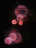 Happiness is looking at fireworks from my home window...