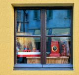 The second hand dealer's window....