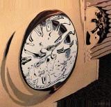 Mad Cow Clock Face
